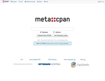 metacpan.org screenshot