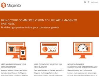 partners.magento.com screenshot