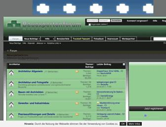 Main page screenshot of bauexpertenforum.info