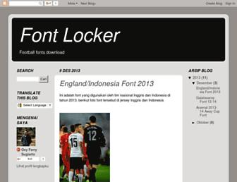 font-locker.blogspot.com screenshot