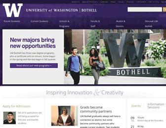 uwb.edu screenshot