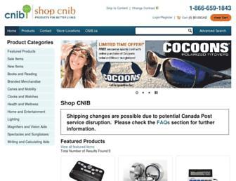 shop.cnib.ca screenshot