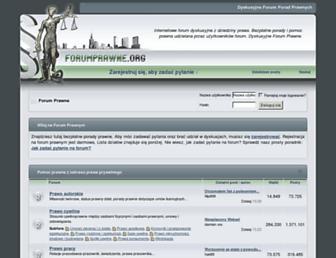 Main page screenshot of forumprawne.org