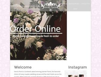 Main page screenshot of irenesflorist.co.uk