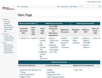 processors.wiki.ti.com screenshot