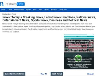 news.fresherslive.com screenshot