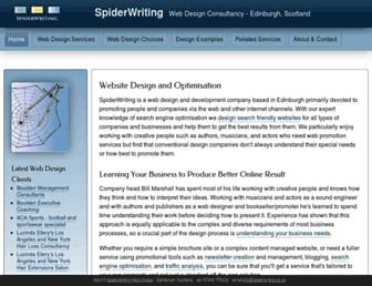 spiderwriting.co.uk screenshot