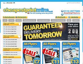 cheapestprintonline.co.uk screenshot