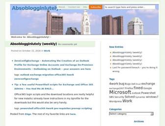 absoblogginlutely.net screenshot
