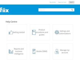 fiixsoftware.zendesk.com screenshot