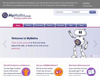 Thumbshot of Mymaths.co.uk