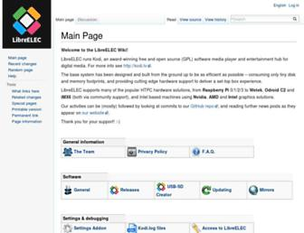 wiki.libreelec.tv screenshot