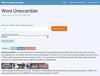 wordunscrambler.me screenshot