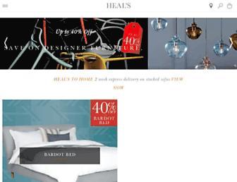 Main page screenshot of heals.co.uk