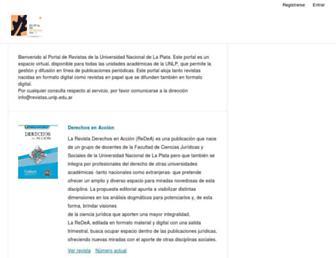revistas.unlp.edu.ar screenshot