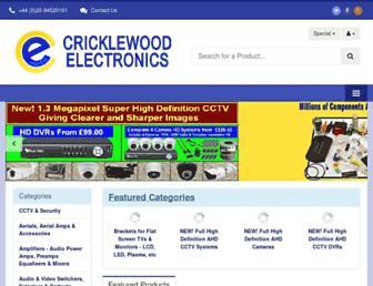 cricklewoodelectronics.com screenshot