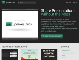 Thumbshot of Speakerdeck.com