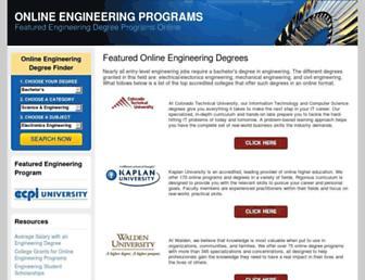 Main page screenshot of onlineengineeringprograms.org