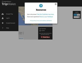 tripmaker.randmcnally.com screenshot