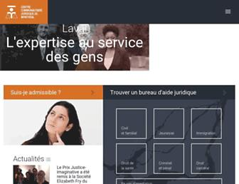 aidejuridiquedemontreal.ca screenshot
