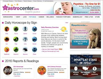 astrocenter.com screenshot