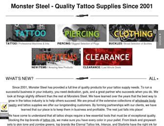 monstersteel.com screenshot