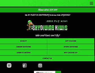 skydivingkiwis.com screenshot