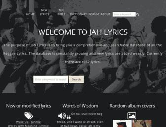 jah-lyrics.com screenshot