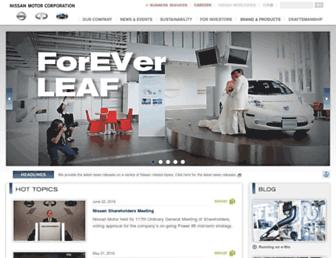 nissan-global.com screenshot