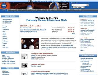 ppi.pds.nasa.gov screenshot