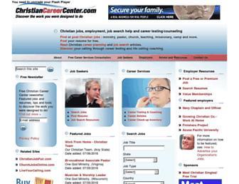 christiancareercenter.com screenshot