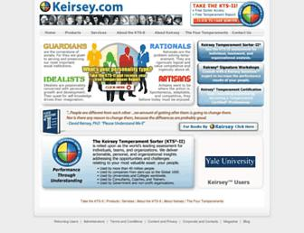 Screenshot for keirsey.com