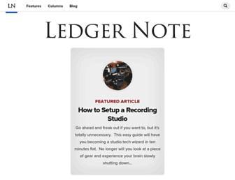 ledgernote.com screenshot