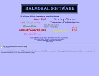 balmoralsoftware.com screenshot
