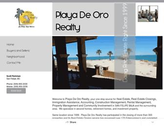 playadeororealty.com screenshot