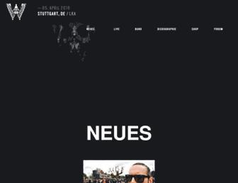 Main page screenshot of der-w.de