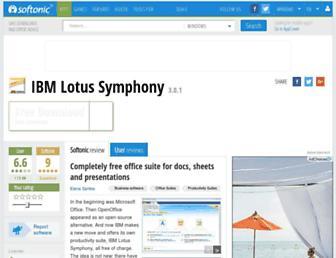 ibm-lotus-symphony.en.softonic.com screenshot