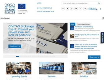 Main page screenshot of civitas.eu