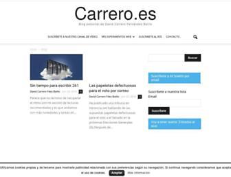 Main page screenshot of carrero.es