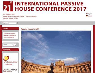 Main page screenshot of passivhaustagung.de