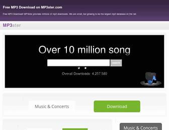 mp3ster.com screenshot