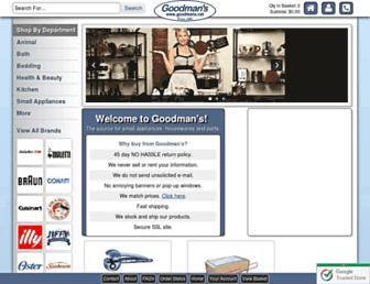 Main page screenshot of goodmans.net