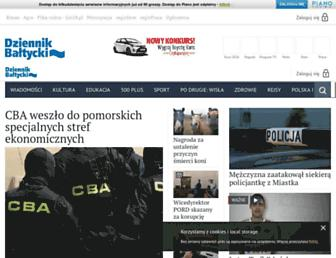 Main page screenshot of dziennikbaltycki.pl