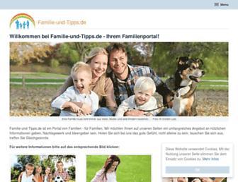 Main page screenshot of familie-und-tipps.de