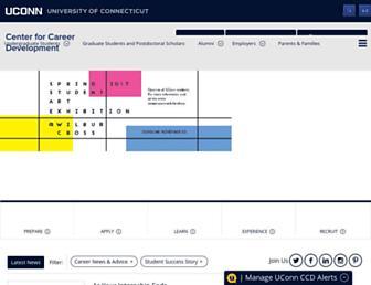 career.uconn.edu screenshot
