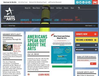 americansforthearts.org screenshot