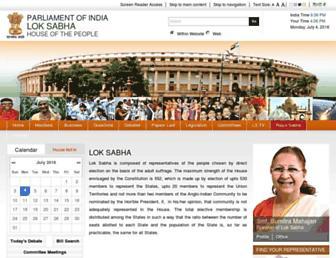 Thumbshot of Loksabha.nic.in