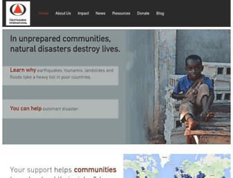 Main page screenshot of geohaz.org
