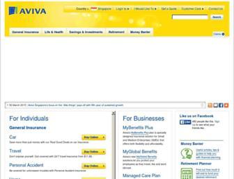 aviva.com.sg screenshot