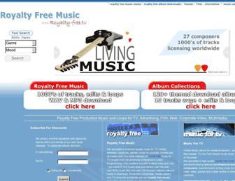 Main page screenshot of royalty-free.tv